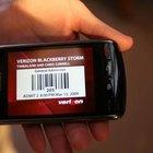 Das BlackBerry Storm verfügt über einen Touchscreen.