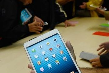 The iPad can use either a Wi-Fi network or a mobile data connection.
