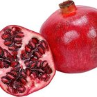 The sweetly acidic seeds inside pomegranate fruit can be eaten fresh.