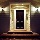 A properly refinished fiberglass entry door will enhance the overall look of your home.