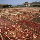 Oriental rugs in similar colors and different patterns work well together.