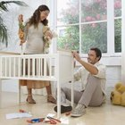 Use care when constructing the baby's crib.