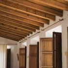 Install rustic beams in your entryway.