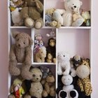 Wall-mounted shelves are a space-saving way to store your daughter's toys.
