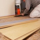 Laminate material weighs less than other flooring.
