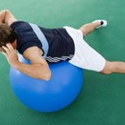 Try a modified crunch on the exercise ball.