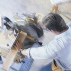 A powered miter saw has the advantage of being able to make quick cuts of any angle.