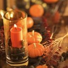 Orange candles set the tone for Halloween.