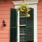 Accent your home with wooden shutters.