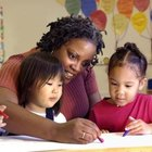 Teachers and childcare workers help children to learn and grow.