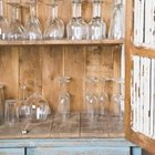 Recycle old cabinets for an attractive, vintage look.
