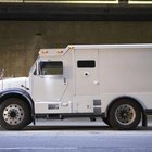 Armored trucks protect large valuable shipments of precious metals.