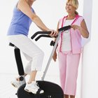 Riding an exercise bike is a great way to burn calories.