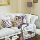 The unifying theme of purple creates harmony in this room.