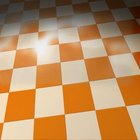 Checkered flooring is a retro look.
