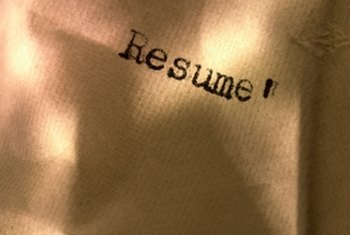 Prepare a college resume to secure a job interview