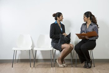 Business owner interviewing consultant
