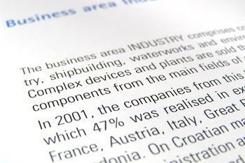 Business reports contain information used in decision-making.