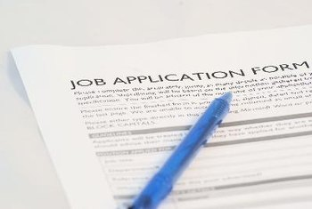 A job application provides much of the information that an employer needs.