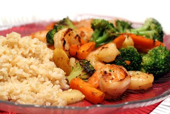 Shrimp and broccoli stir-fry is a colorful, flavorful dish.
