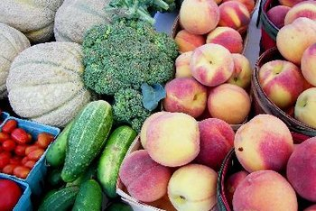 Fruits and vegetables are good sources of natural fiber.