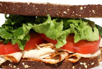 A sandwich made with cold cuts can be high in sodium.