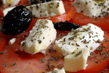Feta cheese negates the need to sprinkle tomatoes with salt.