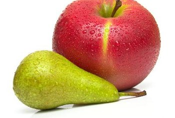 Pears and apples are good sources of filling soluble fiber.