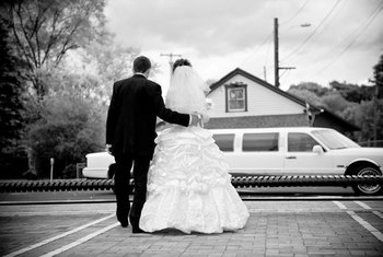 Limo businesses provide transportation for special events, such as weddings.