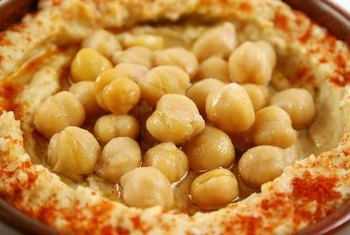 Chickpeas are a good vegetarian source of folate.