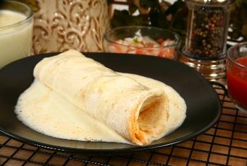 Flour tortillas provide nutrients, but they're high in salt.