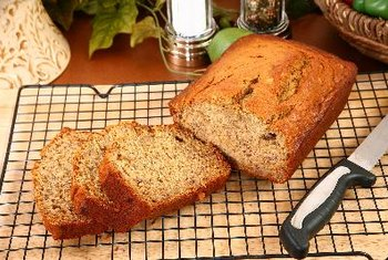 Banana nut bread makes a delicious option for breakfast.