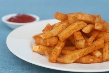 Some french fries contain trans fats.