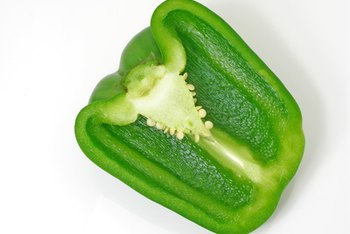 Green bell peppers are low in calories.