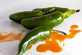 Capsaicin gives jalapeno peppers their fiery taste.