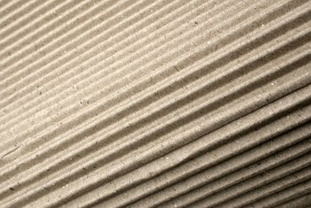 Corrugated wall panels are usually made of metal or fiberglass.