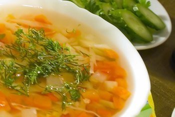 Making low-sodium soup requires just a few minutes.
