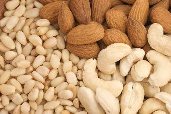 Several types of nuts are rich in vitamin K.
