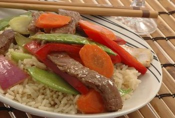 Beef, a high-protein food, as a part of a balanced meal.
