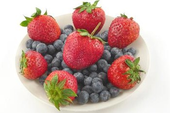 Strawberries and blueberries are full of compounds that prevent oxidation.