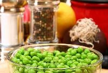 Green peas give a boost of protein and fiber.
