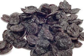 Prune juice is made by steeping dried plums in hot water.