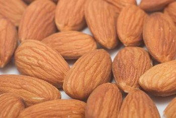 Make homemade almond butter for smoothies using raw almonds, or buy raw almond butter at your local store.
