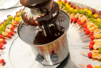 A chocolate fondue cafe is an example of a chocolate-related business.