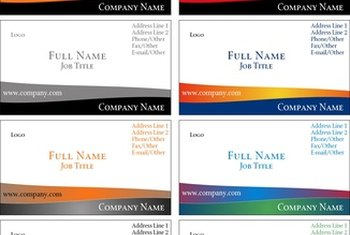 Personalized business card templates can make your card stand out from standardized designs.
