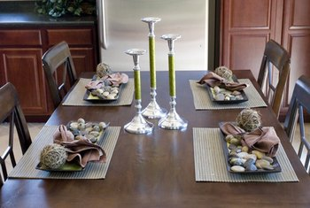 Create a tranquil dining experience with feng shui.