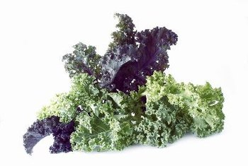 Leafy greens, like kale, are a good source of vitamin K.