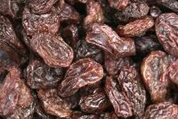 A serving of raisins is equal to a 1/4 cup.