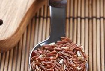 The color of Bhutanese red rice comes from its hull.