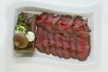 Shaved roast beef contains essential nutrients, like vitamin B12